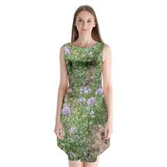 Purple Wildflowers Sleeveless Chiffon Dress