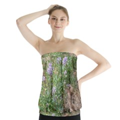 Purple Wildflowers Strapless Top