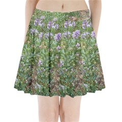 Purple Wildflowers Pleated Mini Skirt
