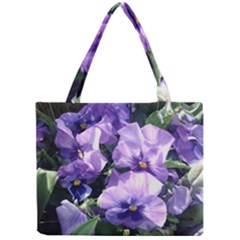 Purple Pansies Mini Tote Bag