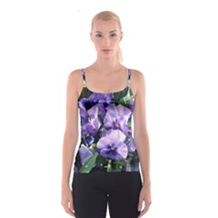 Purple Pansies Spaghetti Strap Top