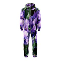 Purple Pansies Hooded Jumpsuit (Kids)