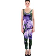 Purple Pansies OnePiece Catsuit