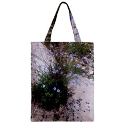 Purple Flowers On Boise River Zipper Classic Tote Bag
