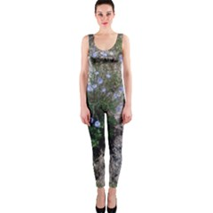Purple Flowers On Boise River OnePiece Catsuit