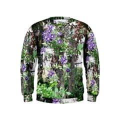Purple Clematis Kids  Sweatshirt