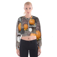 Pumpkins And Gourds Cropped Sweatshirt