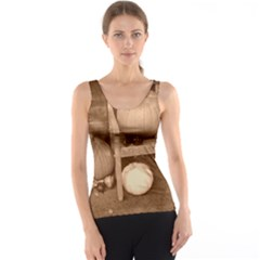 Pumpkins And Gourds Sepia Tank Top