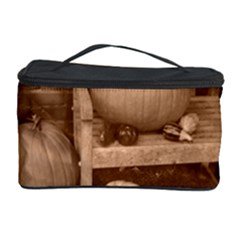 Pumpkins And Gourds Sepia Cosmetic Storage Case
