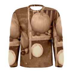 Pumpkins And Gourds Sepia Men s Long Sleeve Tee