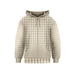 Christmas Gold Large Gingham Check Plaid Pattern Kids  Zipper Hoodie