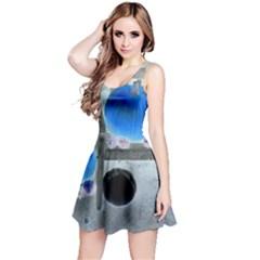Pumpkins And Gourds Negative Reversible Sleeveless Dress