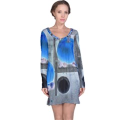 Pumpkins And Gourds Negative Long Sleeve Nightdress