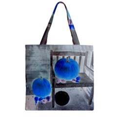 Pumpkins And Gourds Negative Zipper Grocery Tote Bag