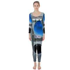 Pumpkins And Gourds Negative Long Sleeve Catsuit