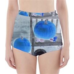 Pumpkins And Gourds Negative High-Waisted Bikini Bottoms