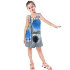 Pumpkins And Gourds Negative Kids  Sleeveless Dress