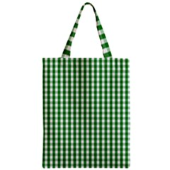 Christmas Green Velvet Large Gingham Check Plaid Pattern Classic Tote Bag