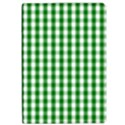 Christmas Green Velvet Large Gingham Check Plaid Pattern Apple iPad Pro 12.9   Flip Case View1