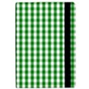 Christmas Green Velvet Large Gingham Check Plaid Pattern Apple iPad Pro 12.9   Flip Case View2