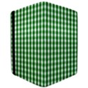 Christmas Green Velvet Large Gingham Check Plaid Pattern Apple iPad Pro 12.9   Flip Case View3