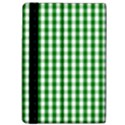 Christmas Green Velvet Large Gingham Check Plaid Pattern Apple iPad Pro 12.9   Flip Case View4