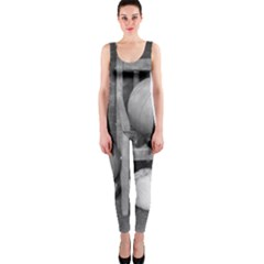 Pumpkind And Gourds Bw OnePiece Catsuit