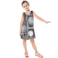 Pumpkind And Gourds Bw Kids  Sleeveless Dress