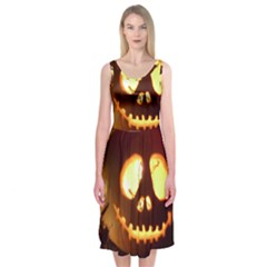 Pumkin Jack  Midi Sleeveless Dress