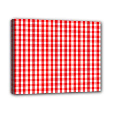 Christmas Red Velvet Large Gingham Check Plaid Pattern Canvas 10  x 8