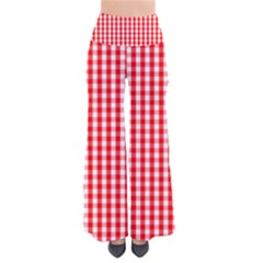Christmas Red Velvet Large Gingham Check Plaid Pattern Pants