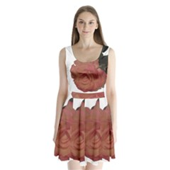 Poppys Last Rose Close Up Split Back Mini Dress