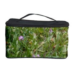 Pink Wildflowers Cosmetic Storage Case