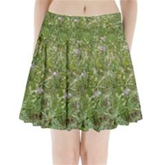 Pink Wildflowers Pleated Mini Skirt