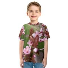 Pink Flowers  Kids  Sport Mesh Tee