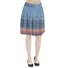 Pink Cloud Sunset Pleated Skirt