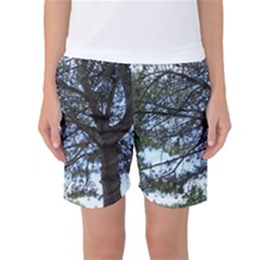 Pine Tree Reaching Women s Basketball Shorts