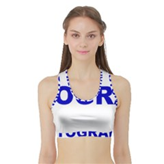 Photography Sports Bra with Border