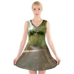 Path 1 V-Neck Sleeveless Skater Dress
