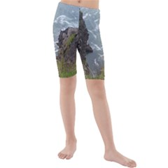 Pacific Ocean 2 Kids  Mid Length Swim Shorts