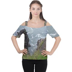 Pacific Ocean 2 Women s Cutout Shoulder Tee