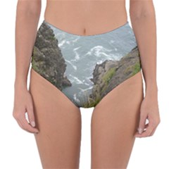 Pacific Ocean 2 Reversible High-Waist Bikini Bottoms