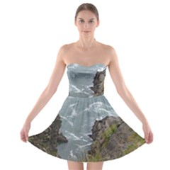 Pacific Ocean 2 Strapless Bra Top Dress