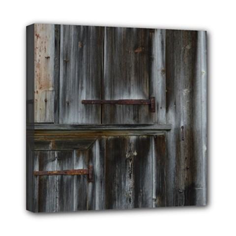 Alpine Hut Almhof Old Wood Grain Mini Canvas 8  X 8
