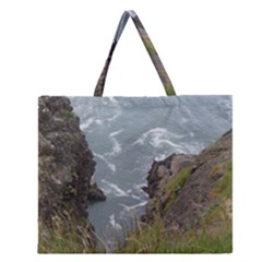Pacific Ocean 2 Zipper Large Tote Bag