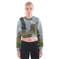 Pacific Ocean 2 Cropped Sweatshirt