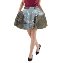 Pacific Ocean 2 A-Line Pocket Skirt