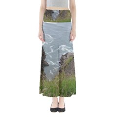 Pacific Ocean 2 Full Length Maxi Skirt