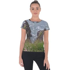 Pacific Ocean 2 Short Sleeve Sports Top