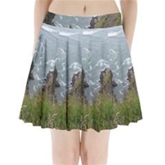 Pacific Ocean 2 Pleated Mini Skirt